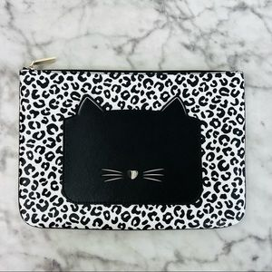 Kate Spade Meow Cat Large Zip Pouch